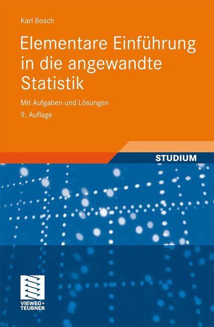 Elementare Einführung in die angewandte Statistik | Bosch | 9., erw. Aufl., 2010 | Buch (Cover)