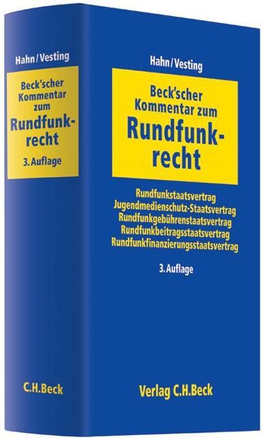Beck'scher Kommentar zum Rundfunkrecht | Hahn / Vesting | Buch (Cover)