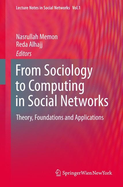 Abbildung von Memon / Alhajj | From Sociology to Computing in Social Networks | 1st Edition. | 2010