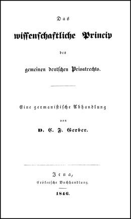 Abbildung von Gerber / Pöggeler / Nörr | Das wissenschaftliche Princip des gemeinen deutschen Privatrechts | Reprint | 1998