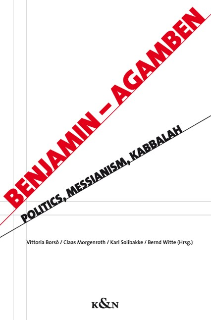 Benjamin – Agamben | Borsò / Morgenroth / Solibakke / Witte, 2010 | Buch (Cover)