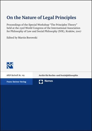 On the Nature of Legal Principles | Borowski, 2010 | Buch (Cover)