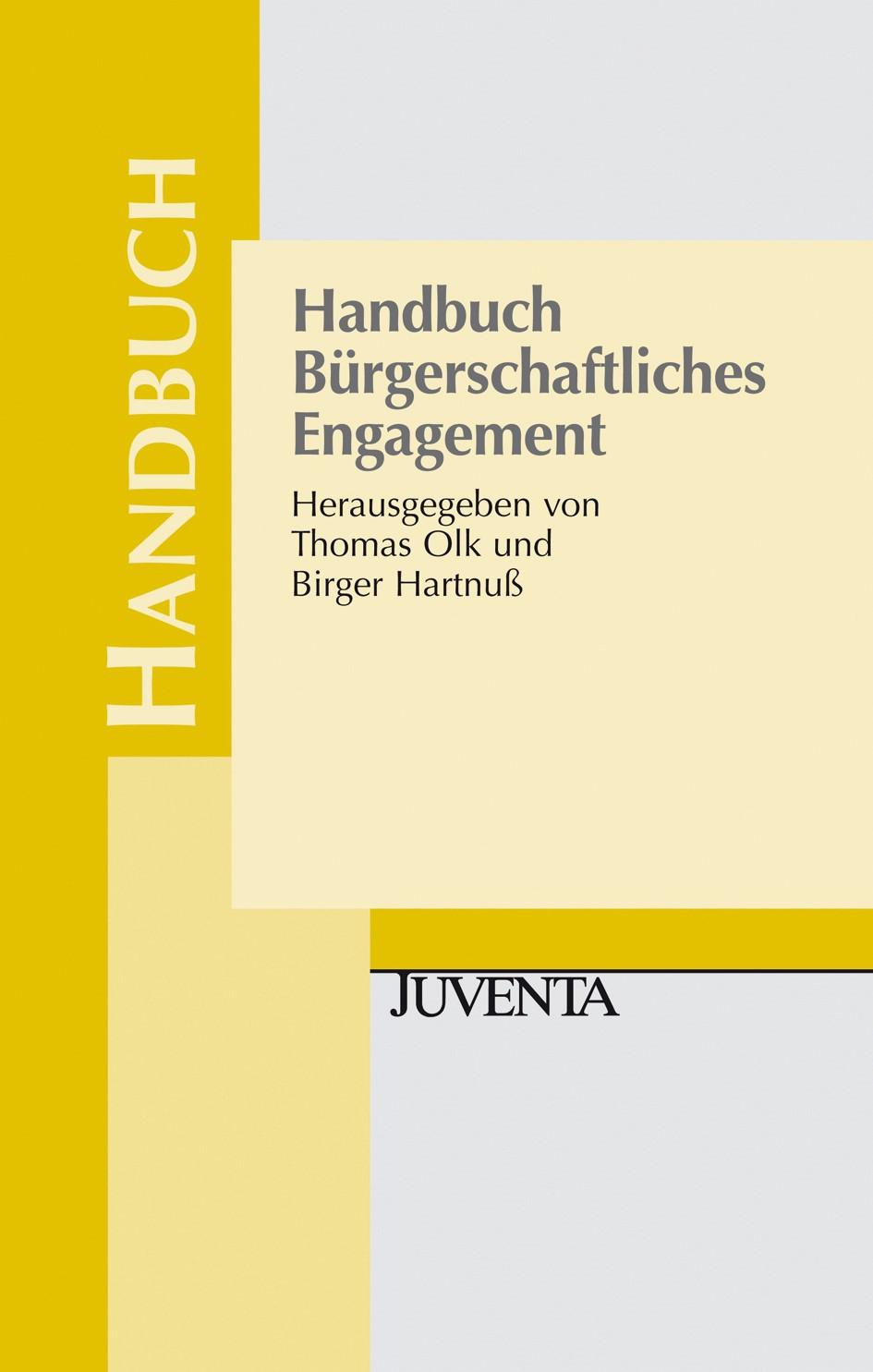Abbildung von Olk / Hartnuß   Handbuch Bürgerschaftliches Engagement   2011