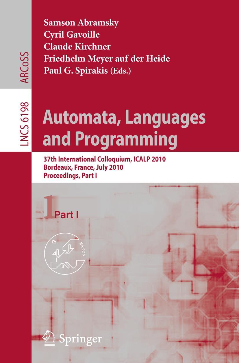 Abbildung von Abramsky / Gavoille / Kirchner / Meyer auf der Heide / Spirakis | Automata, Languages and Programming | 2010