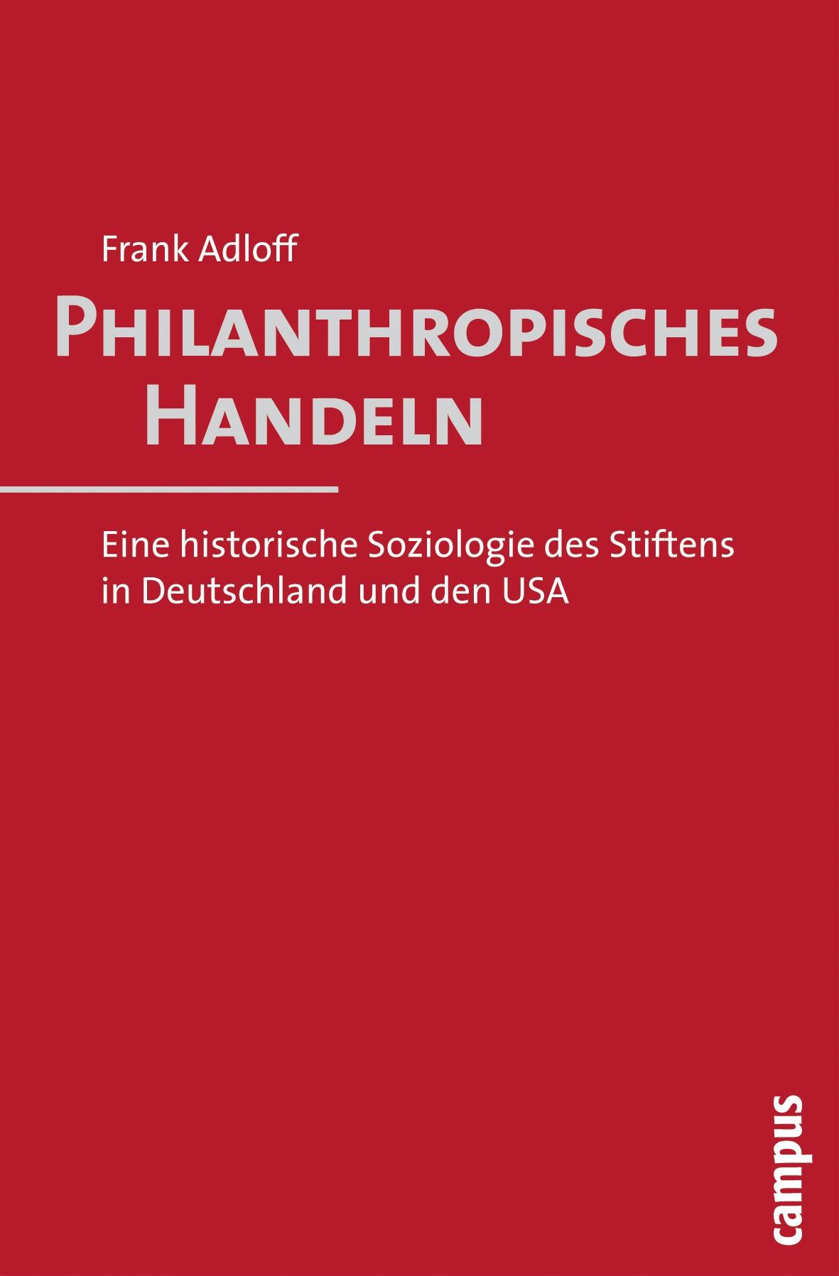 Abbildung von Adloff | Philanthropisches Handeln | 2010