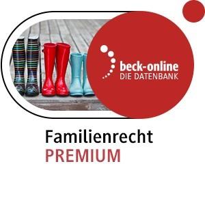 Abbildung von beck-online. Familienrecht PREMIUM