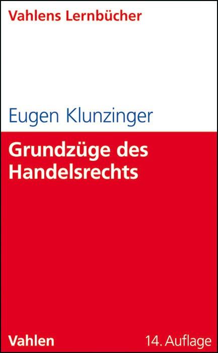 Grundzüge des Handelsrechts | Klunzinger | 14., überarbeitete Auflage | Buch (Cover)