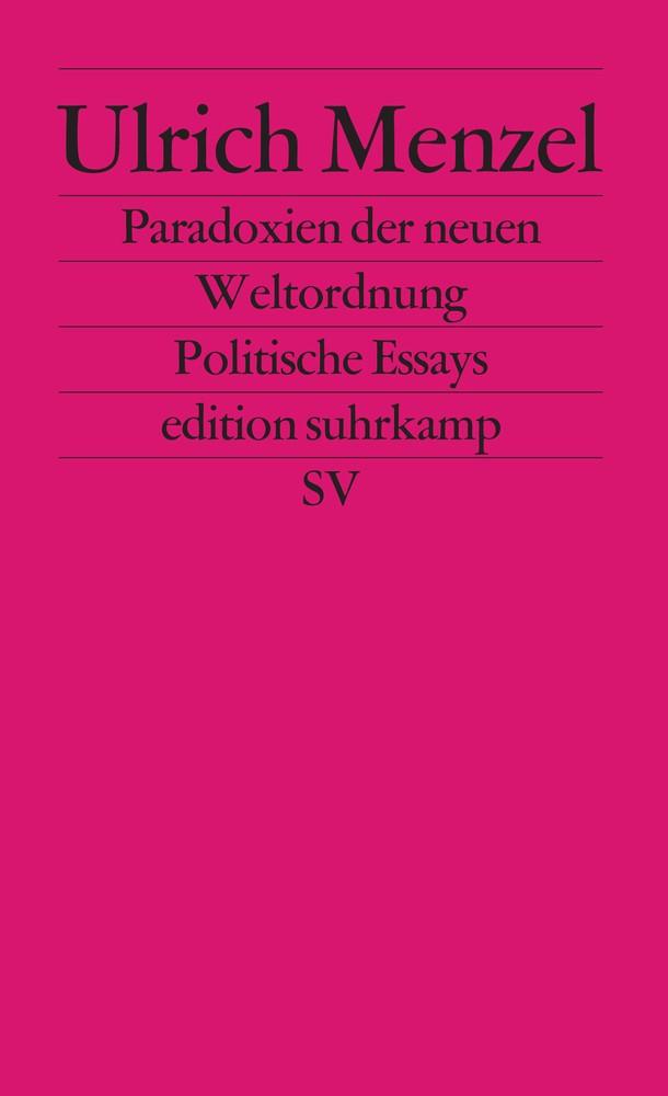 Abbildung von Menzel | Paradoxien der neuen Weltordnung | 2004