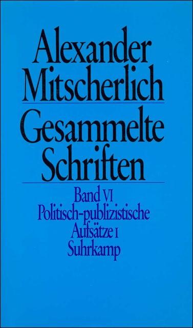 Abbildung von Menne / Mitscherlich / Wiegandt | Gesammelte Schriften in zehn Bänden | 1983