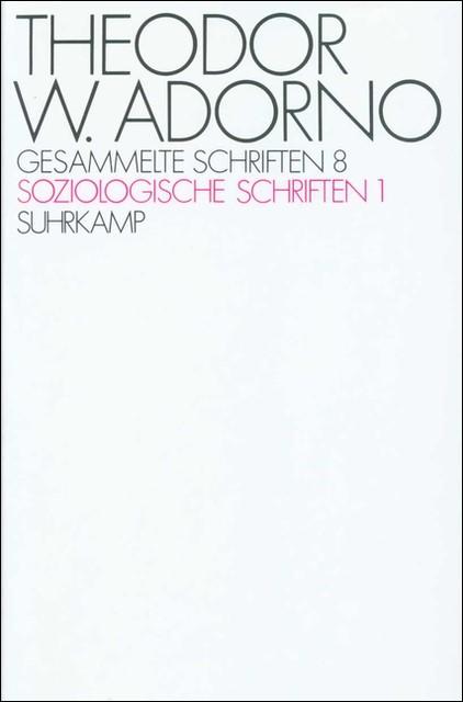 Abbildung von Adorno / Tiedemann   Gesammelte Schriften in zwanzig Bänden   1972