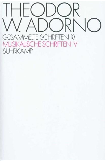 Abbildung von Adorno / Tiedemann | Gesammelte Schriften in zwanzig Bänden | 1984