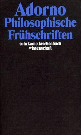 Abbildung von Adorno | Gesammelte Schriften in 20 Bänden | 2003 | Band 1: Philosophische Frühsch... | 1701