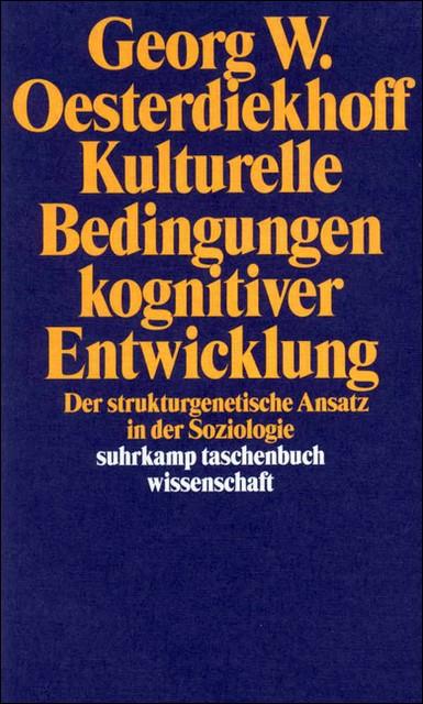 Kulturelle Bedingungen kognitiver Entwicklung | Oesterdiekhoff | Erstausgabe, 1997 | Buch (Cover)