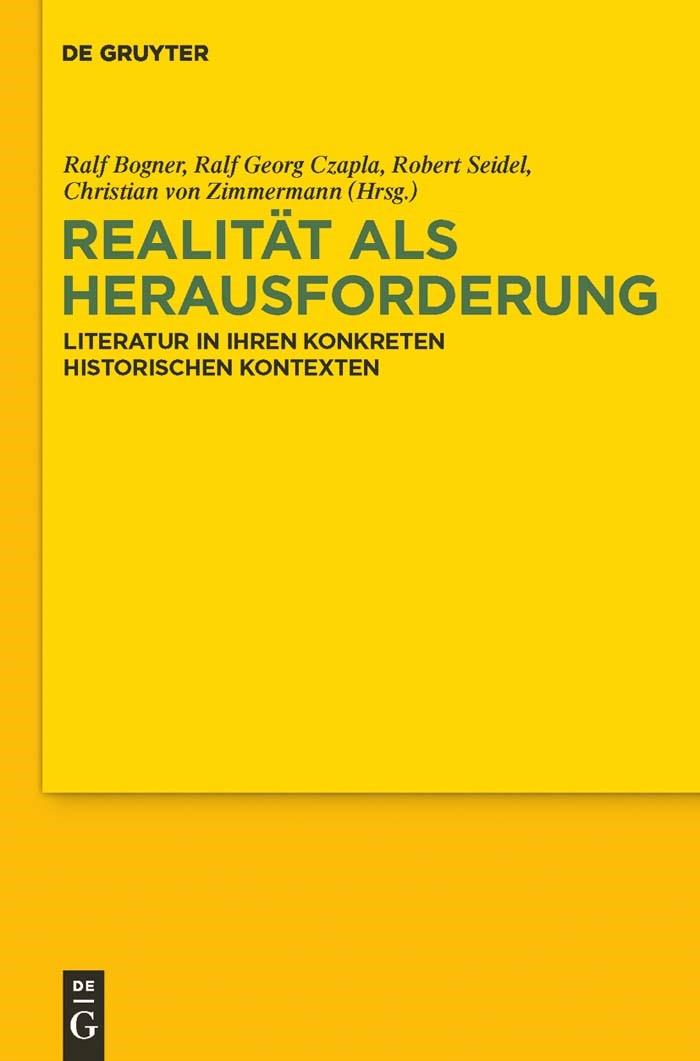 Abbildung von Bogner / Czapla / Seidel / Zimmermann | Realität als Herausforderung | 2011