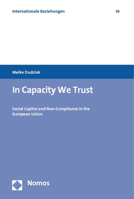 In Capacity We Trust | Dudziak, 2011 | Buch (Cover)