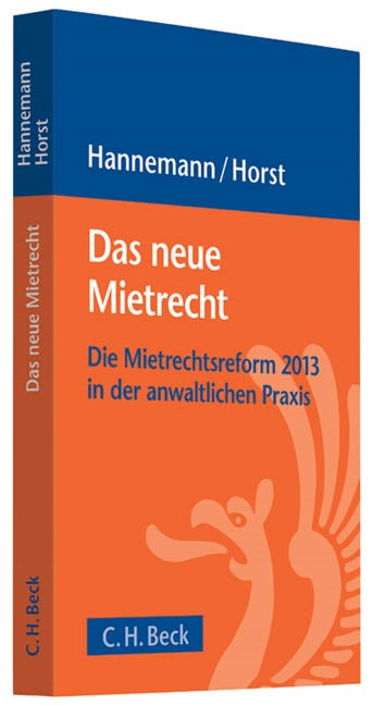 Das neue Mietrecht | Hannemann / Horst, 2013 | Buch (Cover)