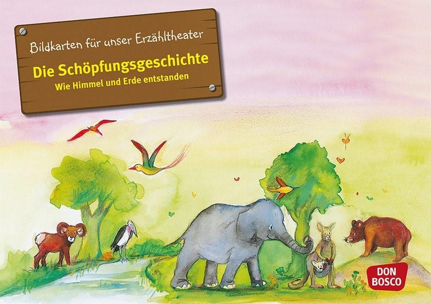 Die Schöpfungsgeschichte. Wie Himmel und Erde entstanden. Kamishibai Bildkartenset.   Brandt / Nommensen   Nachdruck, 2018 (Cover)