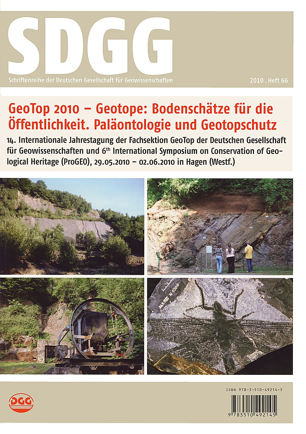 GeoTop 2010 /Geosites for the Public /Paleontology and Conservation of Geosites | Mügge-Bartolovic / Röhling / Wrede, 2010 | Buch (Cover)