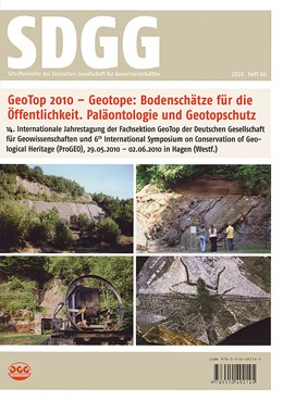 Abbildung von Mügge-Bartolovic / Röhling / Wrede | GeoTop 2010 /Geosites for the Public /Paleontology and Conservation of Geosites | 2010 | 14. Internationale Jahrestagun... | 66