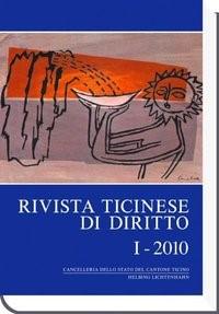 Rivista ticinese di diritto: RtiD, I - 2010 | Borghi, 2010 | Buch (Cover)