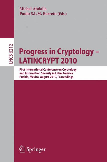 Progress in Cryptology - LATINCRYPT 2010 | Abdalla / Barreto, 2010 | Buch (Cover)