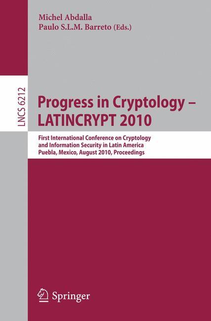 Abbildung von Abdalla / Barreto | Progress in Cryptology - LATINCRYPT 2010 | 2010