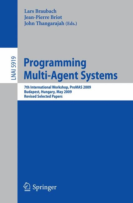 Programming Multi-Agent Systems | Braubach / Briot / Thangarajah, 2010 | Buch (Cover)