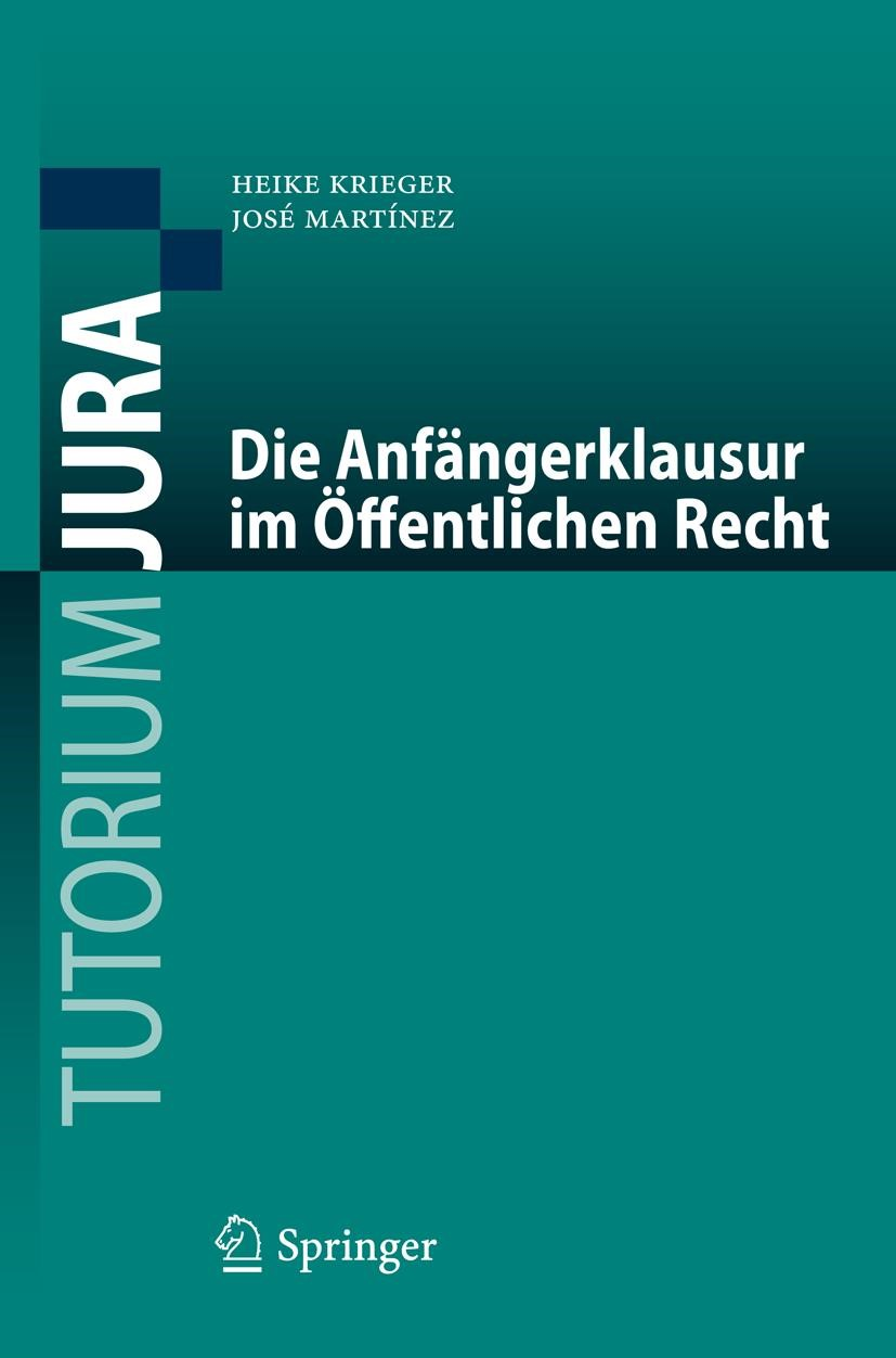 Die Anfängerklausur im Öffentlichen Recht | Krieger / Martínez, 2018 | Buch (Cover)