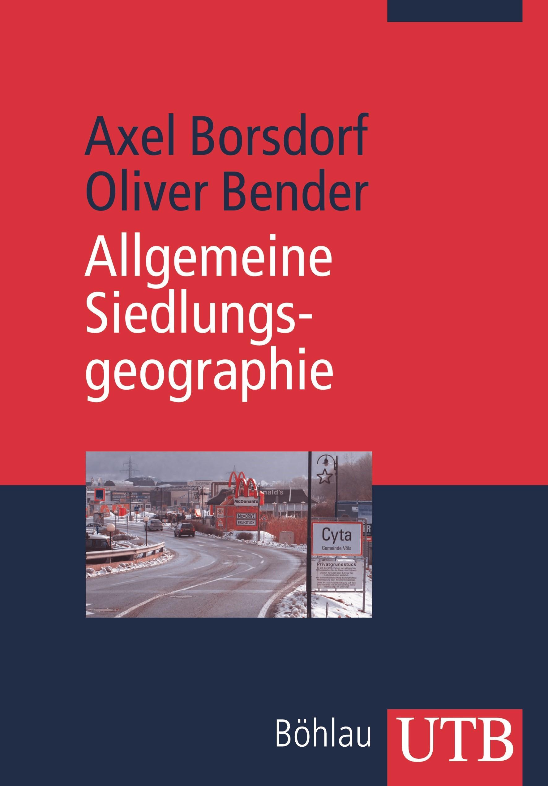 Allgemeine Siedlungsgeographie | Borsdorf / Bender, 2010 | Buch (Cover)