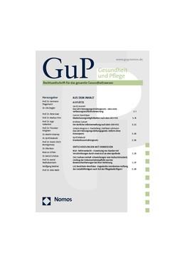 Abbildung von Gesundheit und Pflege • GuP | 9. Jahrgang | 2019 | Rechtszeitschrift für das gesa...