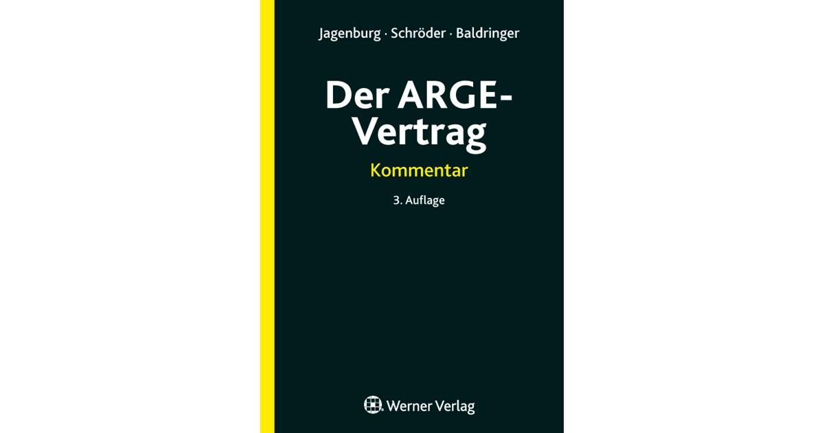 Der Arge Vertrag Jagenburg Schröder Baldringer Hrsg 3