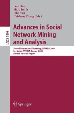 Abbildung von Giles / Smith / Yen / Zhang | Advances in Social Network Mining and Analysis | 2010 | Second International Workshop,...