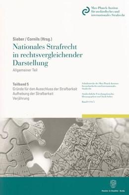Abbildung von Sieber / Cornils   Nationales Strafrecht in rechtsvergleichender Darstellung   2010   Allgemeiner Teil. Band 5: Grün...   114/5