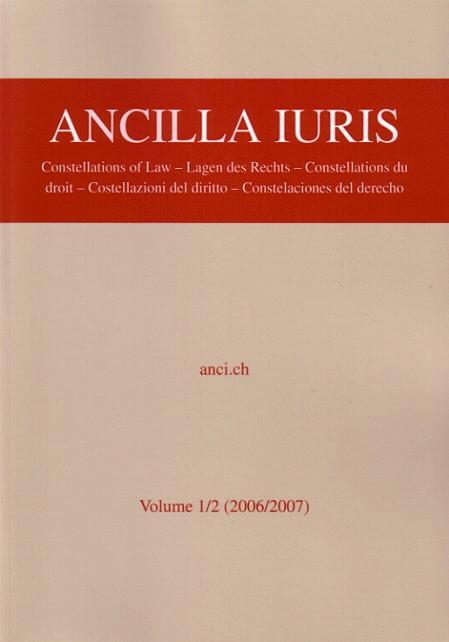 Ancilla Iuris | Abegg / Wenger, 2008 | Buch (Cover)