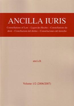 Abbildung von Abegg / Wenger | Ancilla Iuris | 2008 | Vol. 1/2: (2006/2007) Lagen de...