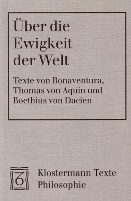 Über die Ewigkeit der Welt | / Aquin / Dacien, 2000 | Buch (Cover)