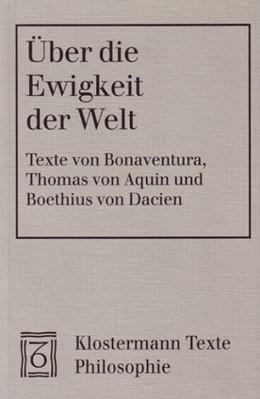 Abbildung von / Aquin / Dacien | Über die Ewigkeit der Welt | 2000 | Lateinisch-deutsch. Mit einer ...