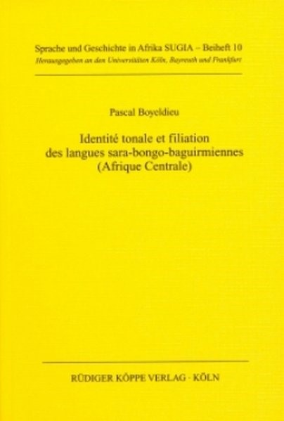 Identité tonale et filiation des langues sara-bongo-baguirmiennes (Afrique centrale) | Boyeldieu, 2000 (Cover)