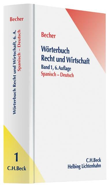 Wörterbuch Recht & Wirtschaft = Diccionário de Derecho y Economía | Becher | 6. Auflage, 2013 | Buch (Cover)