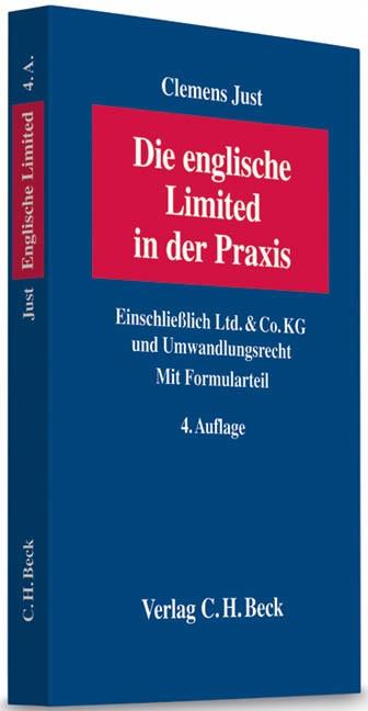 Die englische Limited in der Praxis   Just   4., neu bearbeitete und erweiterte Auflage, 2012   Buch (Cover)