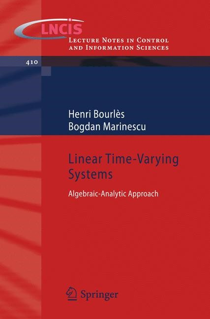Linear Time-Varying Systems | Bourlès / Marinescu, 2011 | Buch (Cover)