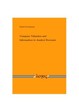 Abbildung von Kreutzmann | Company Valuation and Information in Analyst Forecasts | 2010