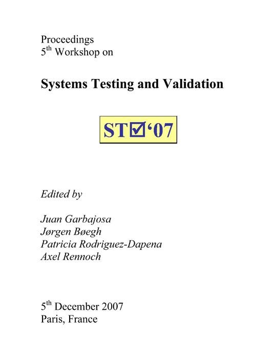 Abbildung von / Garbajosa / Boegh / Rodriguez-Dapena / Rennoch   Systems Testing and Validation   2007