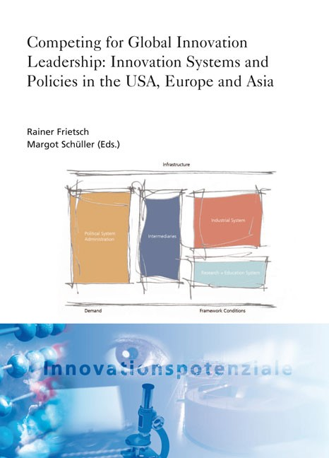 Competing for Global Innovation Leadership: Innovation Systems and Policies in the USA, Europe and Asia. | Conlé / Frietsch / Schüller, 2010 | Buch (Cover)