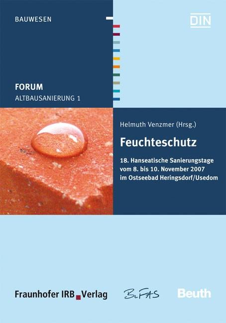Forum Altbausanierung 1. Feuchteschutz | / Venzmer, 2007 | Buch (Cover)