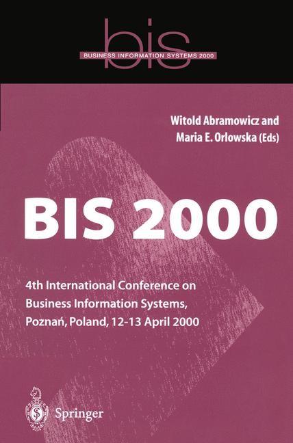 BIS 2000 | Abramowicz / Orlowska | 1st Edition., 2000 | Buch (Cover)