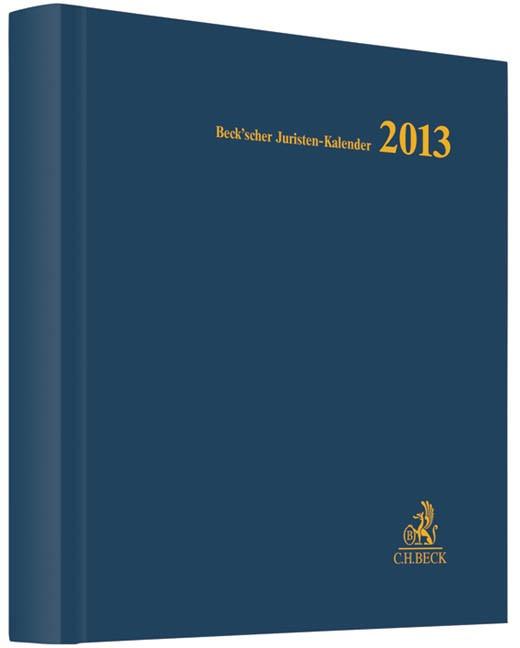Beck'scher Juristen-Kalender 2013   Buch (Cover)