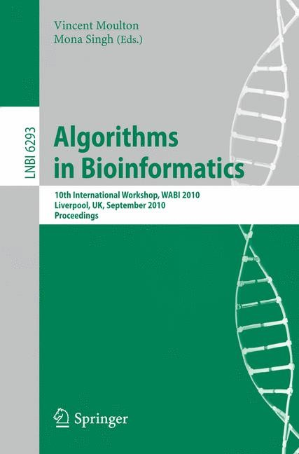 Algorithms in Bioinformatics | Moulton / Singh, 2010 | Buch (Cover)