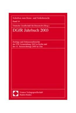 Abbildung von DGfR Jahrbuch 2003 | 1. Auflage | 2004 | 14 | beck-shop.de