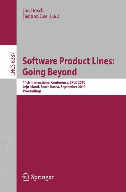 Software Product Lines: Going Beyond | Bosch / Lee, 2010 | Buch (Cover)